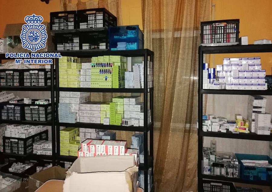 Intervienen en Valencia 20 millones de dosis de medicamentos ilegales