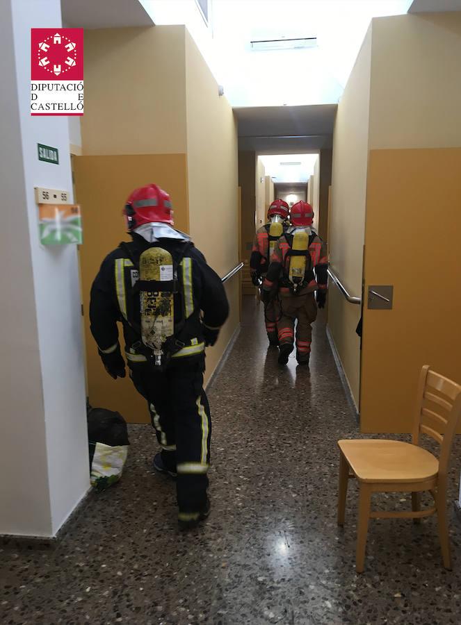 Incendio en una residencia de mayores en Benicàssim