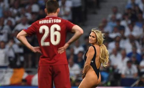 Una espontánea se cuela en la final de la Champions 2019