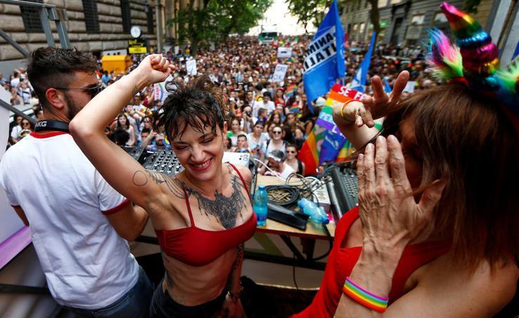 Desfile del Orgullo Gay en Roma 2019