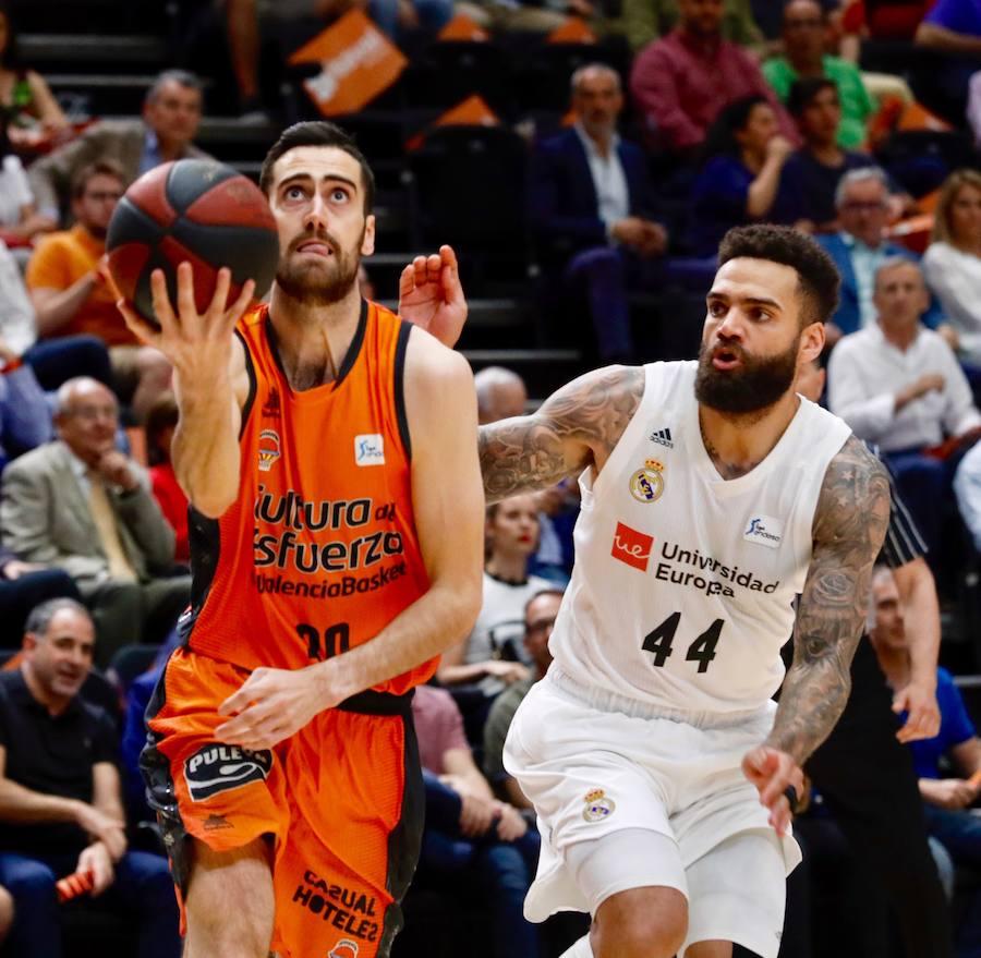 El Valencia Basket-Real Madrid, en imágenes
