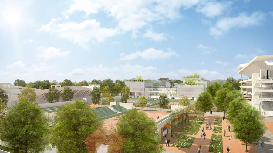 Así es el nuevo Roland Garros, con la pista central con techo en 2020