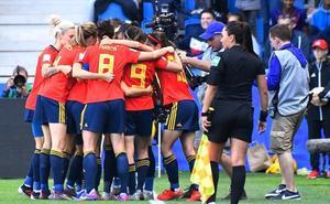 España, soñadoras del partido a partido