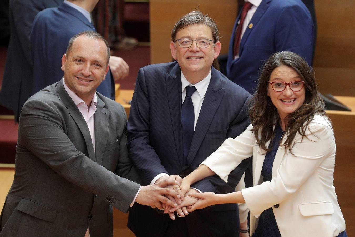 Pleno de investidura de Ximo Puig en Les Corts
