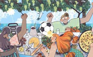 Fútbol, paella y naranjas para Google