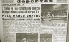 Pelé marcó el primer gol en el Trofeo Naranja