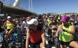 Récord con 1.700 personas pedaleando a la vez en Valencia