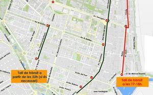 El Ayuntamiento anuncia los cortes de calles en Valencia para la noche de San Juan