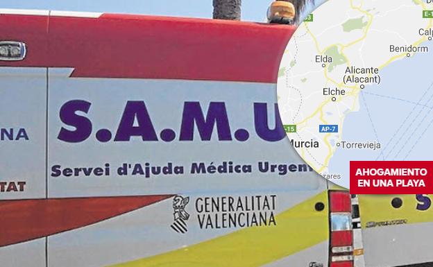 Hospitalizado un bañista de 70 años tras ser sacado insconsciente del mar en una playa de Torrevieja