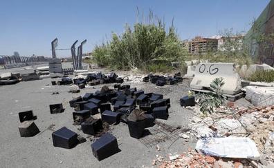 Abandonan restos de una plantación de marihuana en el antiguo circuito de F-1