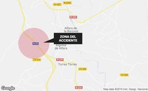Un motorista fallece en un accidente de tráfico en Algimia de Alfara