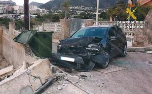 Denuncia que le han robado el coche tras sufrir un accidente en Calpe y acaba detenido