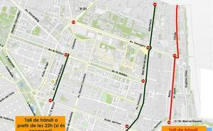 Calles cortadas en Valencia para la noche de San Juan 2019