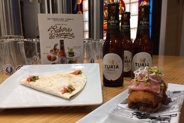 Tapas con Turia en Las Cervezas del Mercado