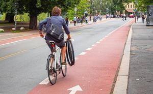 La bici se sale del carril