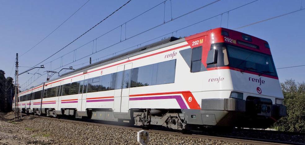 Retrasos en dos líneas de Cercanías por la avería de un tren de mercancías