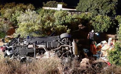 Cinco heridos en el vuelco de un coche en Gandia
