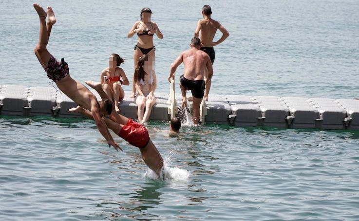 La piscina natural de La Marina, nueva atracción de Valencia
