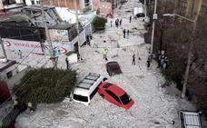 Una fuerte granizada en México provoca daños en más de 200 viviendas y deja increíbles imágenes