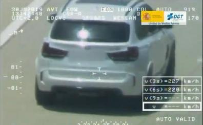 Así cazó el Pegasus al conductor que circulaba a 223 km/h por la AP-7 en Gandia