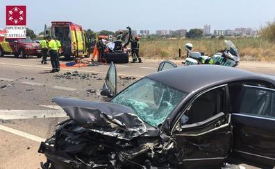 Seis heridos, entre ellos una niña de 7 años, en un accidente de tráfico en Benicàsim