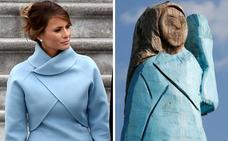 Una estatua de Melania Trump divide a su pueblo natal en Eslovenia