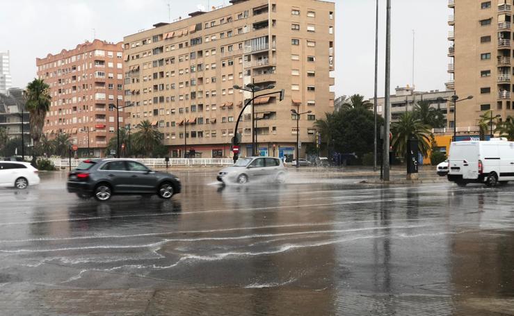 Tormenta de granizo en Valencia