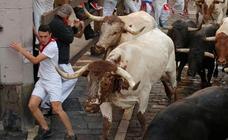 Emocionante encierro de los toros de Victoriano del Río
