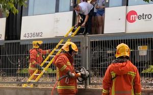 50 pasajeros evacuados por una avería en el metro entre Rafelbunyol y Massamagrell