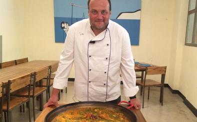 Paella valenciana desde la Bodega de Tofolet
