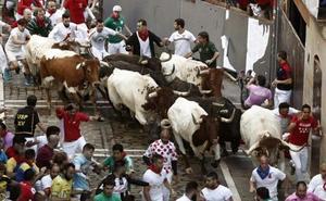 Multado un valenciano con 4.000 euros por agarrar al toro por los cuernos en dos encierros de San Fermín