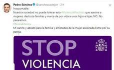 Pedro Sánchez, ante el nuevo crimen machista de Elche: «Insoportable»