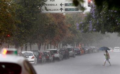 ¿A qué hora puede haber lluvias y tormentas este domingo en Valencia?