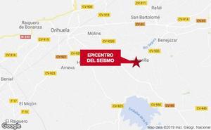 Dos terremotos de 3,2 y 2,2 grados sacuden Alicante con tres horas de diferencia