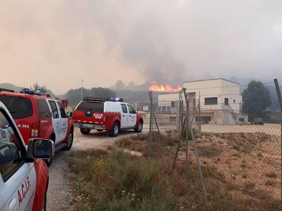 Incendio forestal en Beneixama
