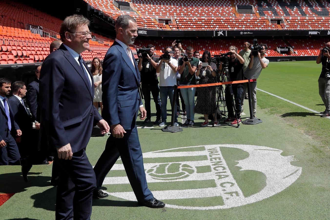 El rey Felipe VI y el Valencia CF, juntos por el Centenario