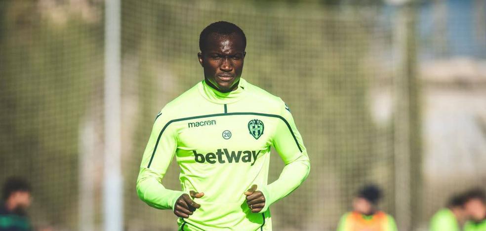 Dwamena se ausenta del entrenamiento del Levante por una confusión