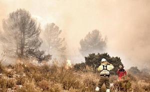 Activado el riesgo extremo de incendios forestales en el sur de la Comunitat