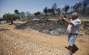 La sucesión de incendios apunta a que el fuego de Beneixama es intencionado