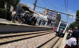 Cortan 45 minutos la línea 3 del metro en Meliana