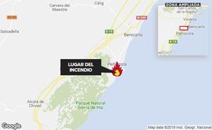 Cien personas desalojadas de un hotel en Peñíscola por un incendio