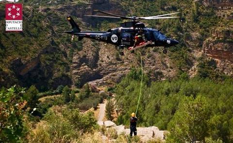 Herido un escalador al caer desde 15 metros cerca del castillo de Jérica
