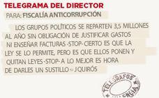 Telegrama para Fiscalía Anticorrupción