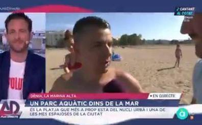 El corte de un presentador de À Punt a un turista que criticó una playa valenciana