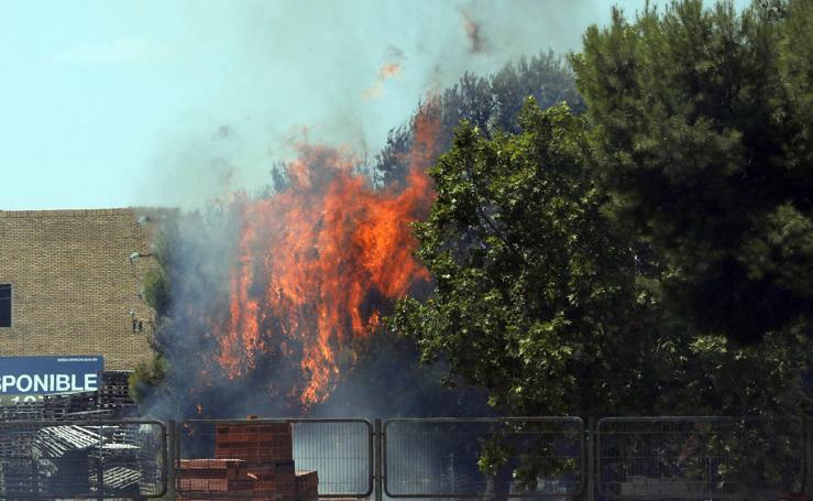 Incendio en Aldaia, julio 2019