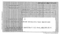 Citibank gestionó los pagos al PSPV y la aportación a la editora del diario Mediterráneo