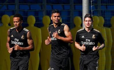 James vuelve a las órdenes de Zidane con su futuro en el aire