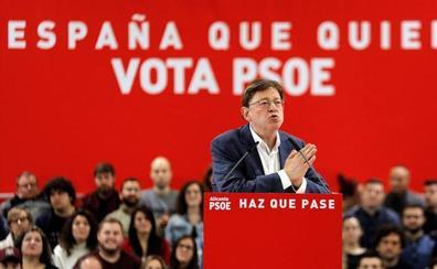 El PSOE ganaría las elecciones generales en la Comunitat Valenciana con el 36,2% de los votos, según el CIS