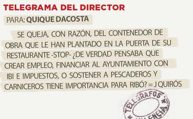 Telegrama para Quique Dacosta