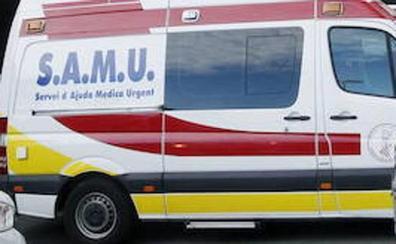 Un hombre ebrio resulta herido al salirse de la vía y chocar contra un talud en Castellón